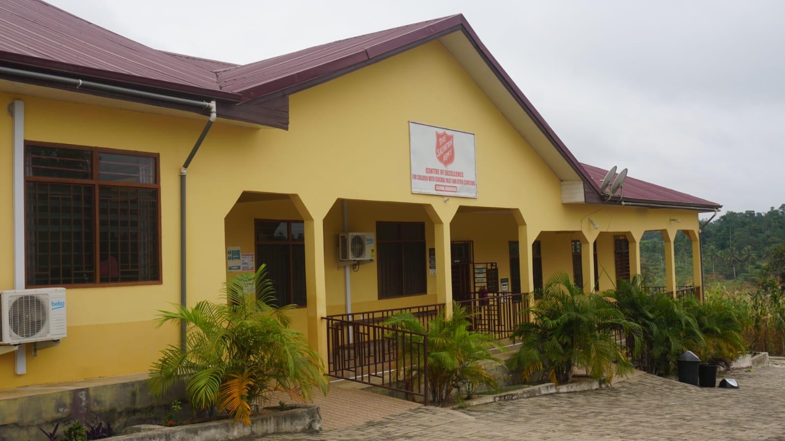 Blick auf eines der Gebäude des Rehazentrums