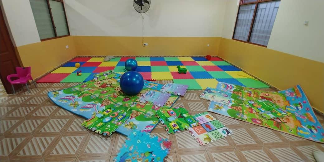 Trainings- und Spielraum für die kleinen Patienten